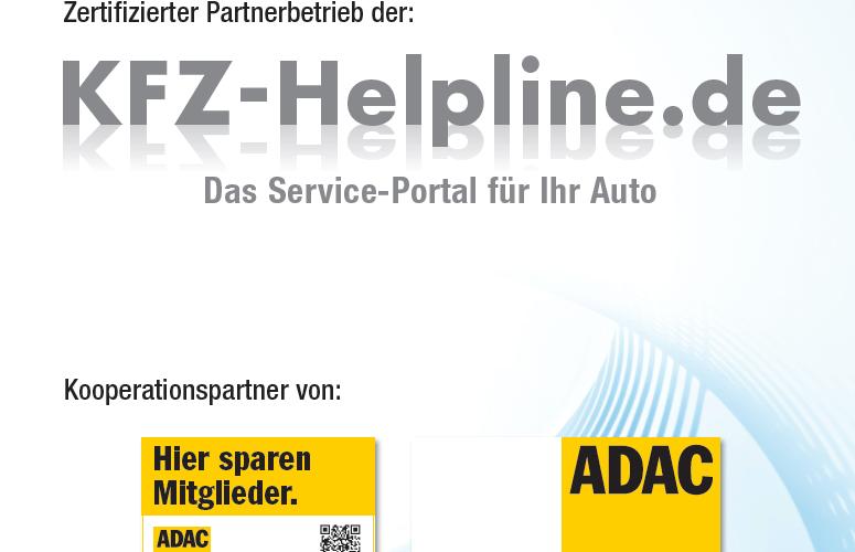 Zertifizierter Partnerbetrieb der KFZ-Helpline